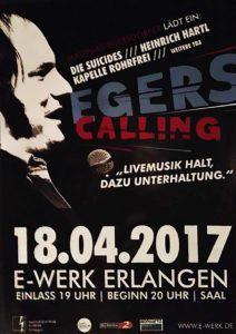 Flyer - Die Suicides - Egers Calling - E-Werk - 2017