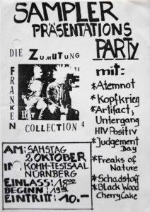 Flyer - Die Zumutung 4 - Release Party - 1993