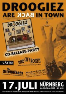 Flyer - Droogiez - Dead City Rockets - Hitchhikers - K4 - 2010