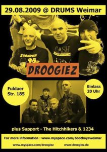 Flyer - Droogiez - Hitchhikers - Weimar - 2009