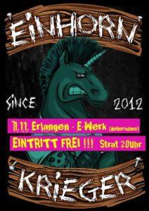 Flyer - Einhorn Krieger - E-Werk - 2017
