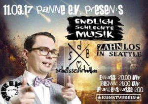 Flyer - Endlich schlechte Musik - Pamme e.V. - Kunstverein - 2017