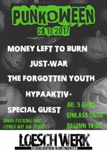 Flyer - Forgotten Youth - HypaAktiv - MLTB - Marktredwitz - 2017