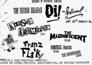 Flyer - Franz Flak - Belgian Oi Festival - 1993