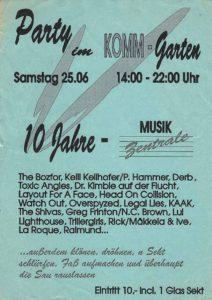 Flyer - Greg Frinton - 10 Jahre MuZ - Komm