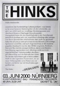 Flyer - Hinks - Jubiläum - Kunstverein - 2000