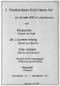 Flyer - Hinks - Neukirchen - 1995