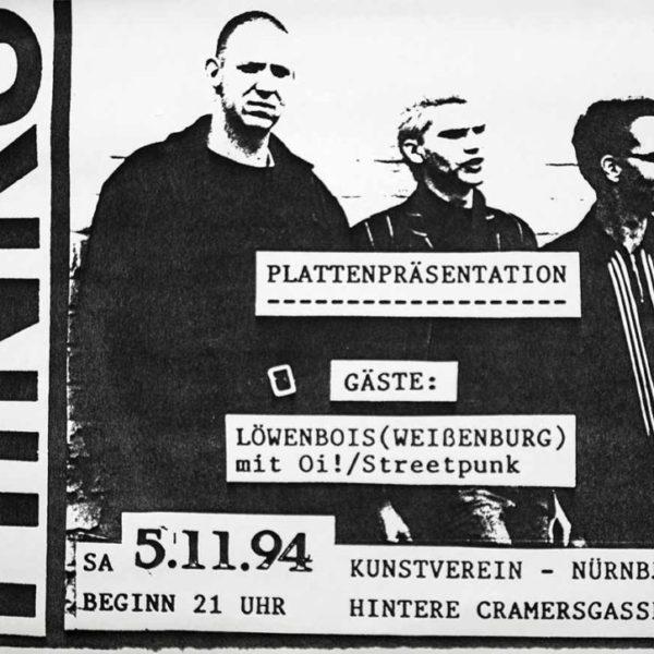 Flyer - Hinks - Plattenpräsentation - Kunstverein - 1994