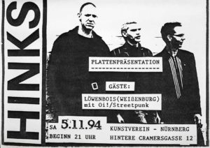 Flyer - Hinks - Plattenpräsentation - Kunstverein - 1994