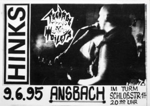 Flyer - Hinks - Teenage Toilets - Ansbach - 1995