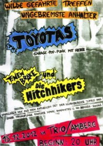Flyer - Hitchhikers - Amberg - 2012