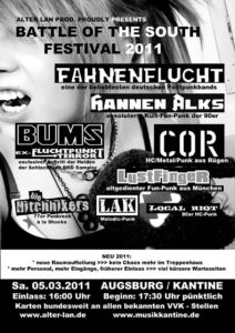 Flyer - Hitchhikers - Augsburg - 2011
