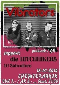 Flyer - Hitchhikers - Chemiefabrik - 2014