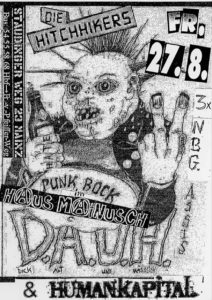 Flyer - Hitchhikers - DAUH - Mainz - 2011