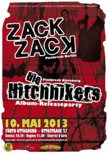 Flyer - Hitchhikers - Release Party - Kopf und Kragen - 2013