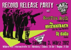 Flyer - Hitchhikers - Release Party - Wilderer 49 - 2012