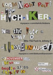 Flyer - Hitchhikers - Rothenburg - 2012