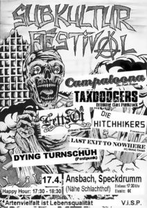 Flyer - Hitchhikers - Taxdodgers - Subkultur Festival - Ansbach - 2010