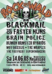 Flyer - Human Hamster Hybrids - Rock im Wald - 2008