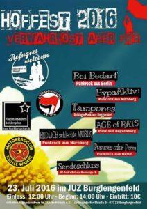 Flyer - HypaAktiv+ - Endlich schlechte Musik - Burglengenfeld - 2016