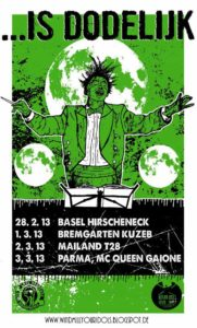 Flyer - Is Dodelijk - Tour - 2013