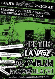 Flyer - Is Dodelijk - Zwickau - 2016