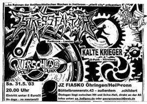 Flyer - Kalte Krieger - Öhringen - 2003