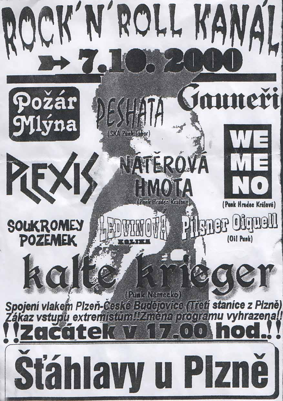 Flyer - Kalte Krieger - Tschechien - 2000