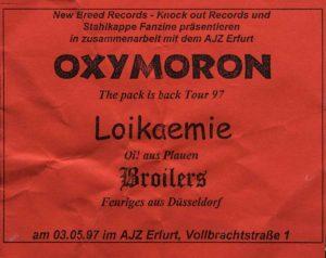Flyer - Oxymoron - AJZ Erfurt - 1997