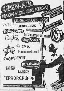 Flyer - Oxymoron - Nauwalde - 1996