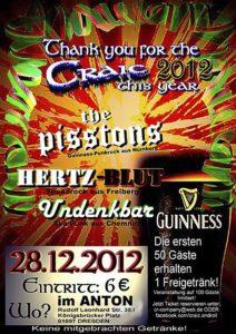 Flyer - Pisstons - Dresden - 2012