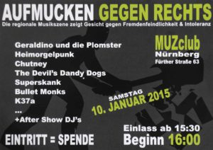 Flyer - Superskank - Heimorgelpunk - MuZ Club - 2015