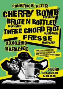 Flyer - Three Chord Riot - Münster - 2013