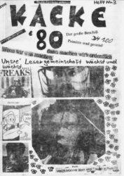 Kacke - Ausgabe 3 - Seite 01 - Fanzine - 1980