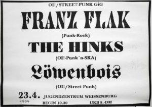 Poster - Franz Flak - Hinks - JuZ Weissenburg - 1994