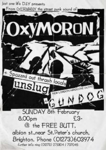 Poster - Oxymoron - Free Butt - UK - 1998