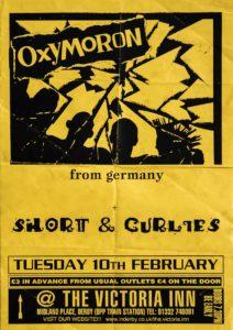 Poster - Oxymoron - Victoria Inn - UK - 1998