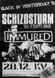 Poster - Schizosturm - Immured - Kunstverein - 2017