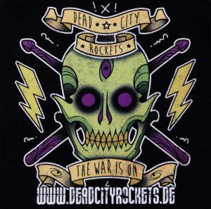 Sticker - Dead City Rockets - The War Is On - 2015