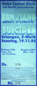 Ticket - Die Suicides - E-Werk - 1995