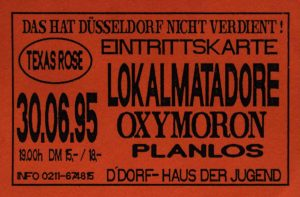 Ticket - Oxymoron - Düsseldorf - 1995