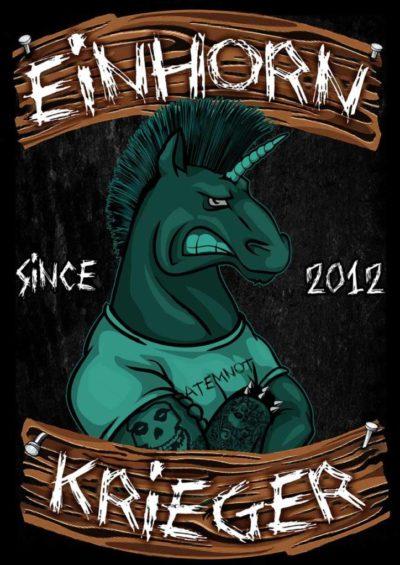 Sticker - Einhorn Krieger